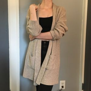 Sweaters - Small Tan Knit Cardigan